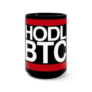 HODL BTC Black Drinks Mug
