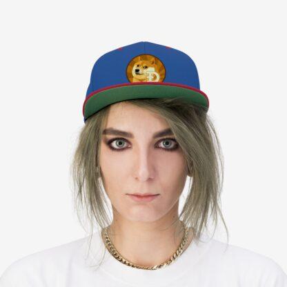 Dogecoin Unisex Flat Bill Hat
