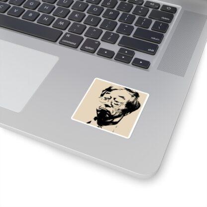 Satoshi Nakamoto Square Stickers