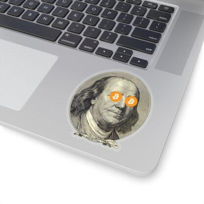 Bitcoin Ben Franklin Stickers